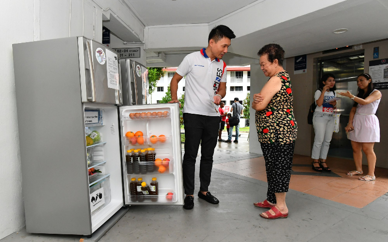 Article Title: Fridges stocked with food in Tampines block to help boost kampung spirit